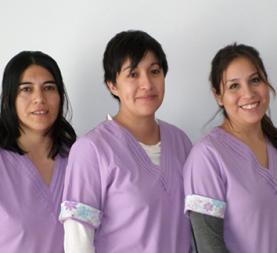 Lucila, Cintia y Katia